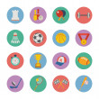 Set of flat sport icons — Stock Vector