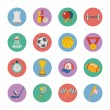 Stock Vector: Set of flat sport icons