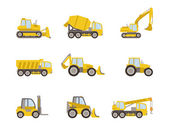 Set of heavy equipment icons — Stock Vector