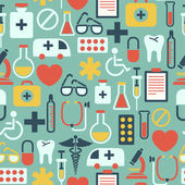 Seamless pattern with medical icons — Stock vektor