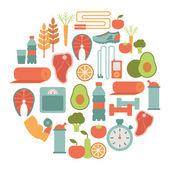 Healthy lifestyle card — Stock Vector