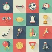 Ensemble d'icônes carrées sport — Vecteur