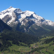 Snow capped mountain named Oldenhorn. — Foto de Stock