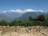 Величественные горы в Непале — Стоковое фото
