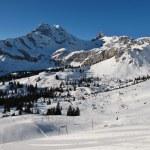 Ski slopes and mountains in Braunwald, Glarus Canton — Stock Photo