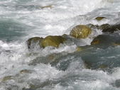 From the river polished stones — Stock Photo