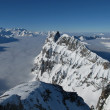 Unique mountain view from the Titlis, sea of fog — Stock Photo