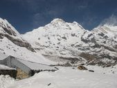 Annapurna Base Camp, elevation 4130 m. — Stock Photo