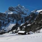 Winter scene in Braunwald, mountain named Ortstock — Stock Photo #31633283