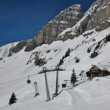 Summit station Grotzenbuehl, skiing in Braunwald — Stock Photo