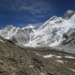 Everest Base Camp and Mt Everest — Stock Photo