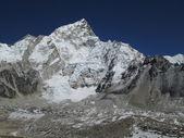 Nuptse and peak of Mt Everest — Stock Photo