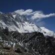 Stock Photo: Visible turbulence over Lhotse