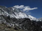 Visible turbulence over Lhotse — Stock Photo