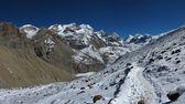 Noha cesta do thorung-la pass, nepál — Stock fotografie