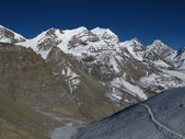 Landscape on the way to Thorung La Pass — Stock Photo