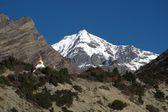 Chulu und stupa, blick vom nawal — Stockfoto
