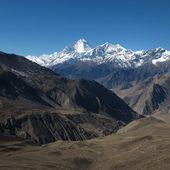 Dhaulagiri and Tukuche Peak — Stock Photo