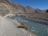 Kali Ghandaki River and road to Jomosom — Foto de Stock