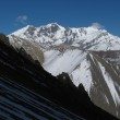 Chulu and limestone formation, view from a place near Tilicho Lake — Stock Photo