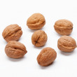 Foto Stock: Walnuts isolated on white background