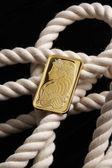 白いロープの金塊 — ストック写真