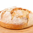 Traditional round bread isolated on a white background — Stock Photo