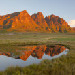 Reflection of the Peaks — Stock Photo