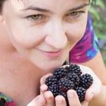 Black raspberries — Stock Photo