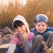 Portrait of boy and girl — Stock Photo #35040899