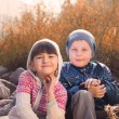 Portrait of boy and girl — Stock Photo #35044459