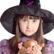 Portrait of girl in magician costume — Stock Photo