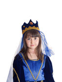 Portrait of girl in princess costume — Stock Photo