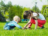 Children in the park — Stockfoto