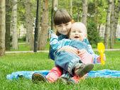 Děti v parku — Stock fotografie