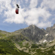 Stock Photo: Cableway to peak