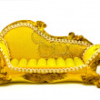 Stock Photo: Yellow sofa
