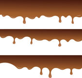 Melted chocolate for notepad or background — Stock Vector
