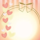 Pink ribbon and hearts background — 图库矢量图片