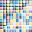 Set of colorful striped background — Imagen vectorial