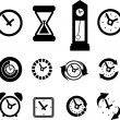 Clock icons — Stockvektor #33397833