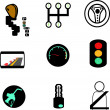 Car icons — Stockvectorbeeld