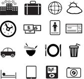 Set of vacation and travel icon created in vector format — Stockvektor