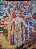 Soviet wall art. Mosaic — Stock Photo
