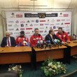 Постер, плакат: Klitschko after fight press conference October 6 2013