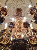 Chandelier close up. President palace. Republic of Belarus. Minsk. — Stock Photo