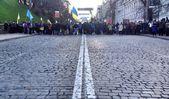 Kiev. Grushevskogo street. Blockpost — Stock Photo
