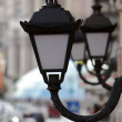 Black metal street lamp — Stock Photo