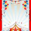 Bright circus frame — Stock Vector