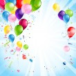 Bright holiday with balloons — Vector de stock #28792761